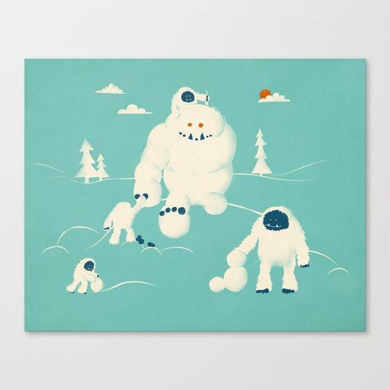 Abominable Snowman's Snowman Canvas Print
