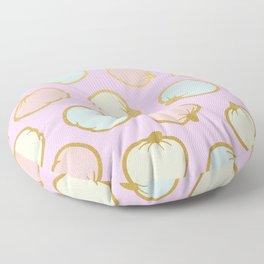 Pastel Pumpkin Pattern with Gold Floor Pillow