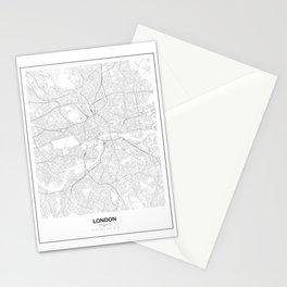London, England Minimalist Map Stationery Cards