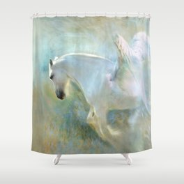 Angelic Horse Shower Curtain