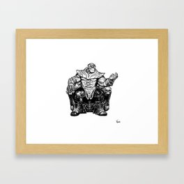 Thanos The Mad Titan Framed Art Print