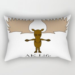 AK Life Moose Rectangular Pillow