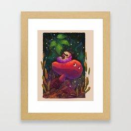 Caterpillar friend Framed Art Print