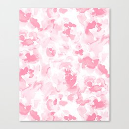 Abstract Flora Millennial Pink Canvas Print