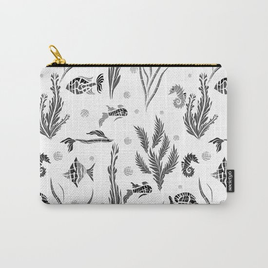 Black and white pattern. Fish . Carry-All Pouch