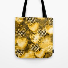 Light Bulb Hearts Series (Gold) Tote Bag