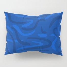 Classic Blue Scribble Pillow Sham