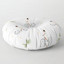 Bike Ride Pattern Floor Pillow