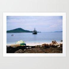 scuba cove Art Print