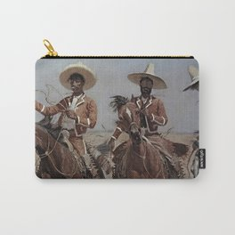 """Frederic Remington Western Art """"Mexican Riders"""" Carry-All Pouch"""