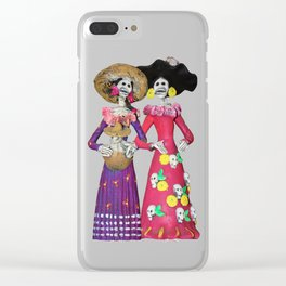 Las Calaveras Amigas Clear iPhone Case