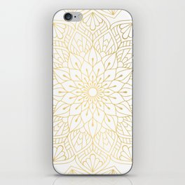 The Golden Mandala Illustration Pattern iPhone Skin