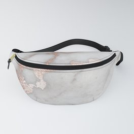Rose Gold Marble Fanny Pack