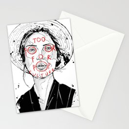 Too Poor For Pop Culture II Stationery Cards