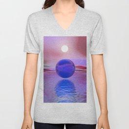Blue Sunset Unisex V-Neck