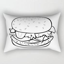 Burger Yummy Rectangular Pillow