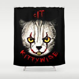 cat clown kittywise vector art Shower Curtain