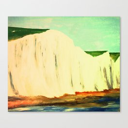 White Chalk Cliffs Canvas Print