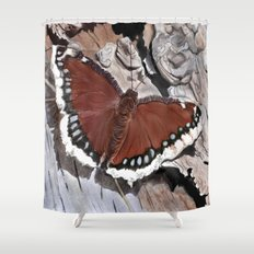 Cloak of Mourning Butterfly Shower Curtain