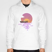 sunset Hoodies featuring Sunset by Moremo