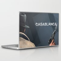 casablanca Laptop & iPad Skins featuring Cinema Classics: Casablanca by Raven Krupnow