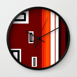 The Wall 3 Abstract Art by Saribelle Rodriguez Wall Clock