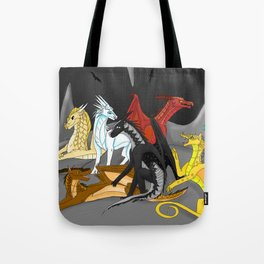 Dragon Wings Of Fire Tote Bag