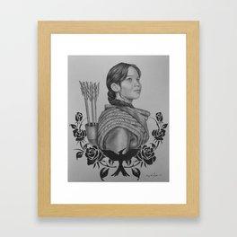 "Katniss Everdeen - ""We Promised Not To Lie"" | Drawing Framed Art Print"