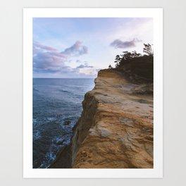 Cliff Edge Art Print