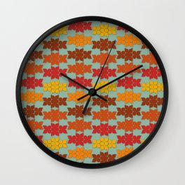 Retro Butterfly Print Wall Clock
