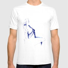 ...In a Blue Dress SMALL White Mens Fitted Tee