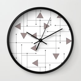 Lines & Arrows Wall Clock
