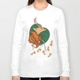 Girl and fish Long Sleeve T-shirt