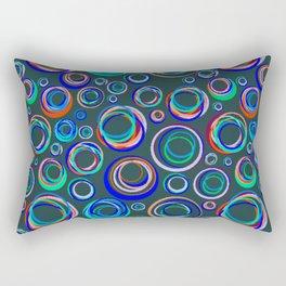 Glowing Circles Rectangular Pillow