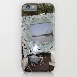 Merry Christmas from Santa Monica Pier in Los Angeles, California iPhone Case