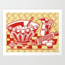 Mixing Up Something Good In The Kitchen Art Print