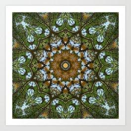 Yellow Tree Flower Kaleidoscope Art 5 Art Print