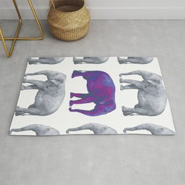 Elephants II Rug