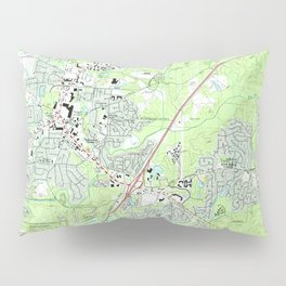 Roswell Georgia Map (1992) Pillow Sham