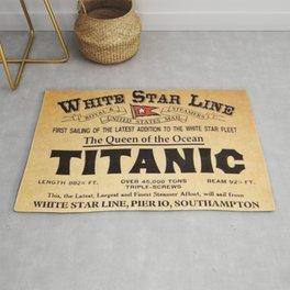 White Star Line Vintage Poster Advertisement Rug