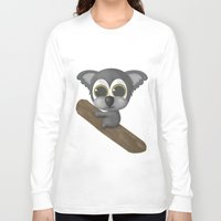 koala Long Sleeve T-shirts featuring KOALA by Ainaragm