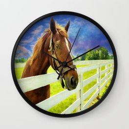 Hello From the Bluegrass State Wall Clock