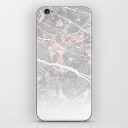 Pastel Pink & Grey Marble - Ombre iPhone Skin