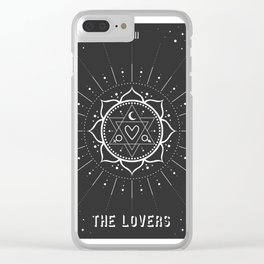 Minimal Tarot Deck The Lovers Clear iPhone Case