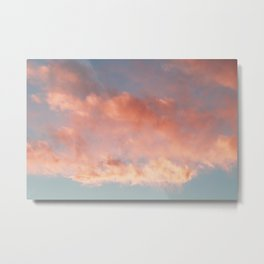 Pink and Blue Sky Over Newport Rhode Island Metal Print