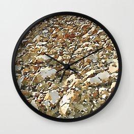 Hortus Conclusus: clods of earth Wall Clock