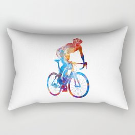 Woman triathlon cycling 06 Rectangular Pillow