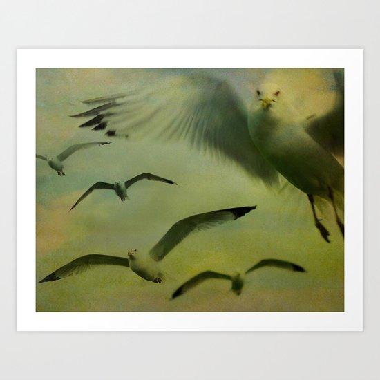 Seagulls Among Us Art Print