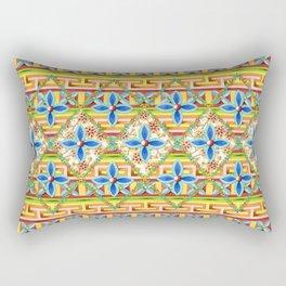 Elizabethan Rainbow Blossoms Rectangular Pillow