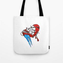 Ticking Heart Tote Bag